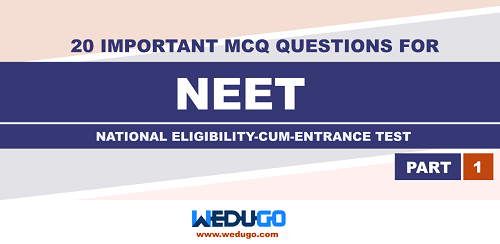 Important Multiple Choice Questions for NEET Exam 2020 Part 1